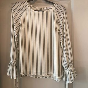 Rose + Olive Striped Blouse